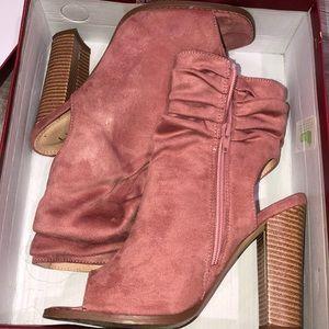 Summer or fall dusty pink heels